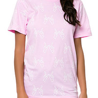 Glow in the Dark Whatever Tee - Pink / White