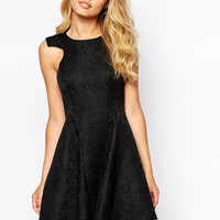 Ginger Fizz | Ginger Fizz Kiss Goodnight Dress With Full Skirt In Jacquard at ASOS