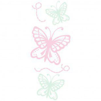 Art-A-Peel Kids Pastel Butterflies Wall Decal - 21199 - Decor