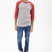 Colorblock Heathered Baseball Tee