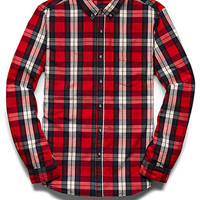 Classic Collared Plaid Shirt