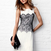 Lace Knife-pleat Dress - Victoria's Secret