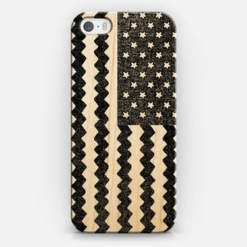 Black Zig Zag Flag iPhone 5s case by Nick Nelson | Casetify
