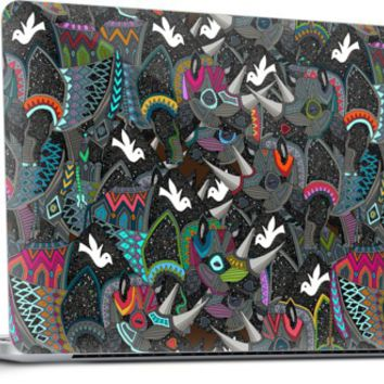 rhino party Laptop by Sharon Turner | Nuvango