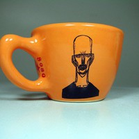 12oz cup zombie number b creamsicle  In Stock by CircaCeramics