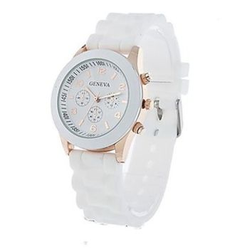 Unisex Geneva Silicone Jelly Gel Quartz Analog Sports Wrist Watch