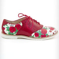 Rosy Disposition Saddle Shoes | PLASTICLAND