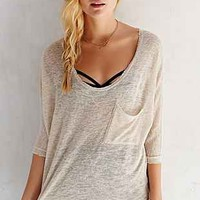 Ecote Cally Raw-Edge Top - Urban Outfitters