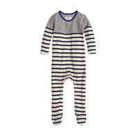 BABY FOOTED COVERALL IN MULTISTRIPE