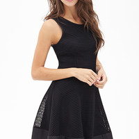 Mesh Fit & Flare Dress