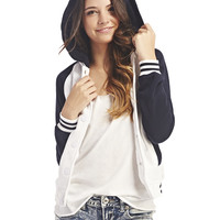 Hoodie Baseball Jacket | Wet Seal