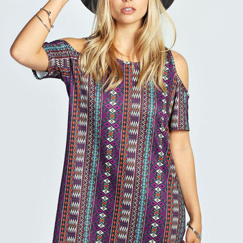 Shanna Aztec Print Shift Dress