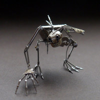 "Mechanical Creature ""Curiosity"" Recycled Watch Parts Organism Justin Gershenson-Gates Faces Stems Gears Arthropod Clockwork Robot Insect"