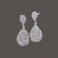 Bridal Earrings Drop Rhinestone Crystal Stud Wedding Jewelry Accessories Bridesmaids Gift