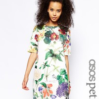 ASOS PETITE T-shirt Dress in Botanical Textured Print