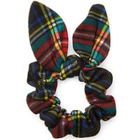 Tartan Plaid Bow Scrunchie