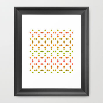 spring pattern Framed Art Print by VanessaGF | Society6