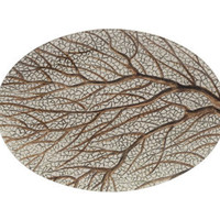 RIGHT FAN CORAL PLATE | tabletop | accessories | Jayson Home & Garden