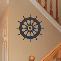 Wall Decal Nautical Ships Wheel Vinyl Wall by ChuckEByrdWallDecals