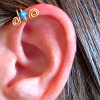 No Piercing Crystal Up Ear Cuff for Upper by ArianrhodWolfchild