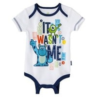 Disney® Newborn Boys' Monster's Inc. Bodysuit - White/Blue