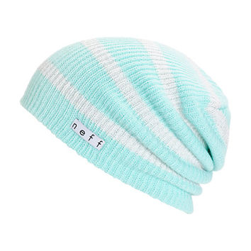Neff Daily Mint Stripe Sparkle Beanie