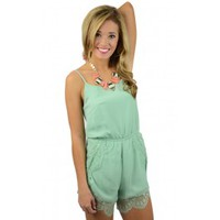 Blissful Summer Romper in Mint