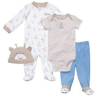 Carter's 4-pc. Blue Giraffe Sleep & Play Set