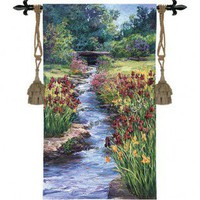 Fine Art Tapestries Brookside Garden Tapestry - Laurie Snow Hein - 3330-WH - Decor