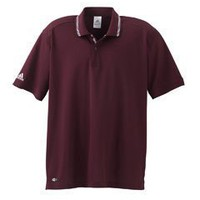 Adidas ClimaLite Tech Men's Athletic Polo Sports Shirt - Light Maroon/White