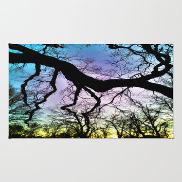 Twisted Tree Sunset Area & Throw Rug by DuckyB (Brandi)