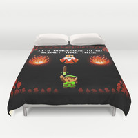Zelda - It's Dangerous! Duvet Cover by likelikes | Society6