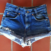 High Waisted Denim Shorts by LindsayLouVintage on Etsy