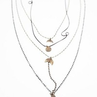 Free People Womens Waterfalls Necklace