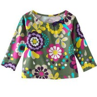 Carters Girls 4-6X Olive Floral Long Sleeve Tunic Top