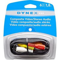 Dynex™ - 6' Composite Video/Stereo Audio Cable