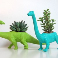Betsy and James the Apatosaurus Planters & by PlaidPigeon on Etsy