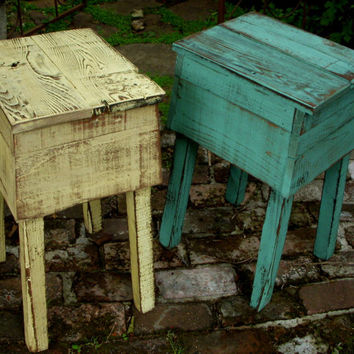 Shabby Furniture - Table - Reclaimed Wood - Handmade, Distressed, Choice of Color