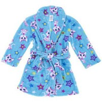Blue Kitty Bathrobe for Girls