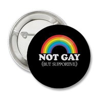 NOT GAY BUTTONS from Zazzle.com