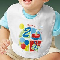 Personalized First Birthday Clothing - Baby Bib