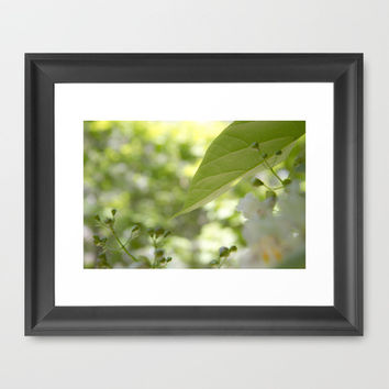 green moments  Framed Art Print by VanessaGF