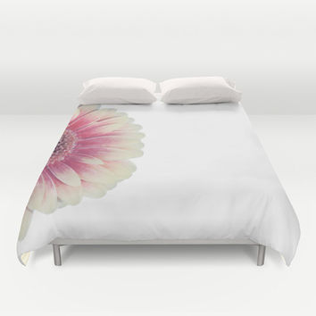colored summer ~ pink and white gerbera  Duvet Cover by Steffi ~ findsFUNDSTUECKE