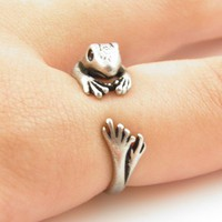 Silver Frog Wrap Ring | KejaJewelry - Jewelry on ArtFire