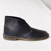 Clarks Leather Desert Boot- Black
