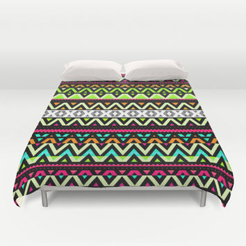 Neon Mix Duvet Cover by Ornaart
