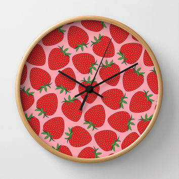 Strawberries Wall Clock by Ornaart