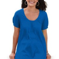 Perfect cotton U-neck tunic