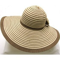 New Sexy Sun Summer Wide Brim Straw Hat Stripe Hat sun beach summer hat