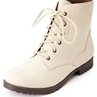 LACE-UP ANKLE COMBAT BOOTS